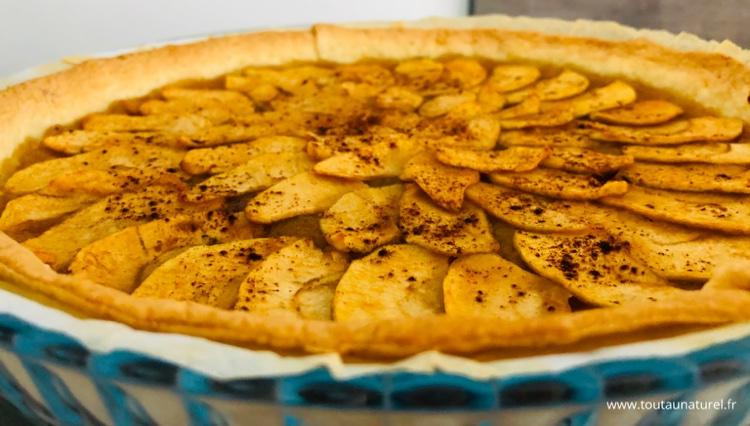 Recette tarte aux pommes avec compote fait-maison
